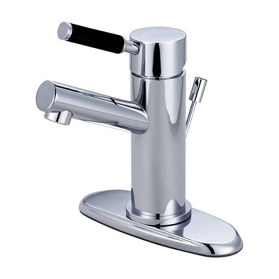 Elements of Design Kaiser Polished Chrome 1-Handle Single Hole Bathroom Faucet (Drain Included)