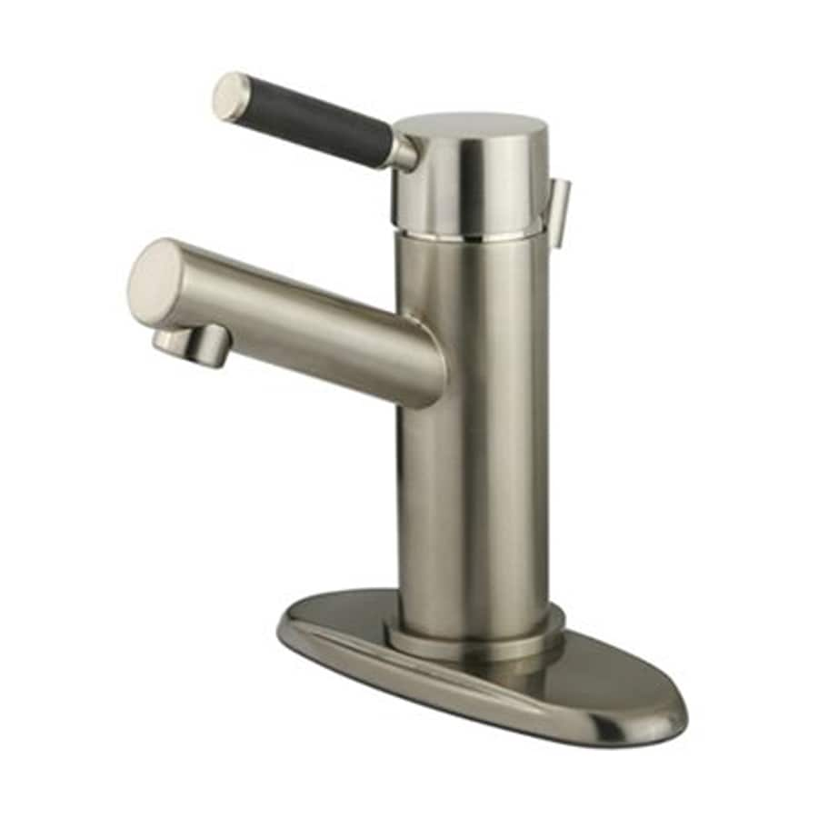 Elements of Design Kaiser Satin Nickel 1-Handle Single Hole Bathroom Faucet (Drain Included)