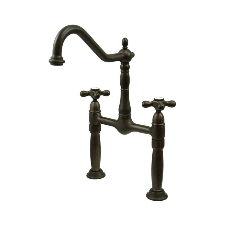 Elements of Design Victorian Dark Bronze 2-Handle Widespread Bathroom Faucet