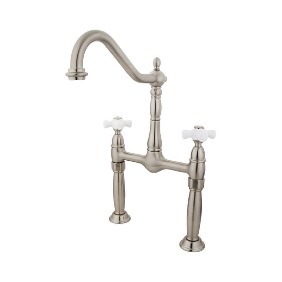 Elements of Design Victorian Satin Nickel 2-handle Widespread Bathroom Sink Faucet
