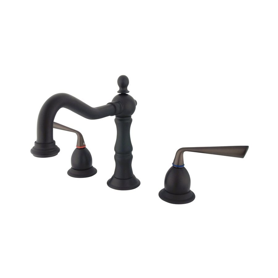 Elements of Design Silver Sage Oil-Rubbed Bronze 2-Handle Widespread Bathroom Faucet (Drain Included)