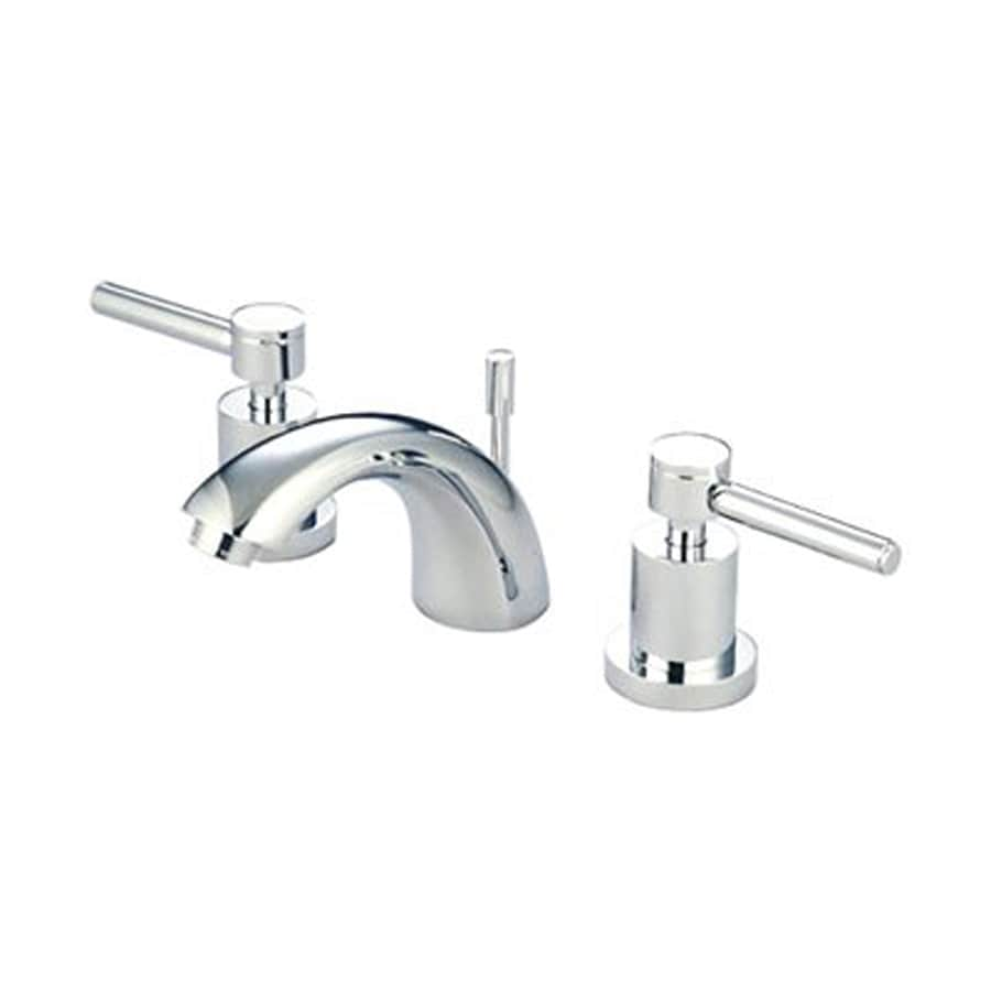 Elements of Design Concord Chrome 2-Handle 4-in Mini Widespread Bathroom Faucet (Drain Included)