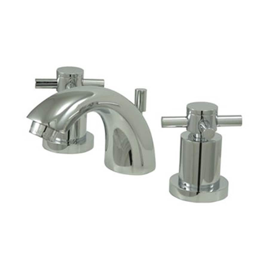 Shop Elements Of Design Concord Chrome 2 Handle 4 In Mini Widespread Bathroom Faucet Drain
