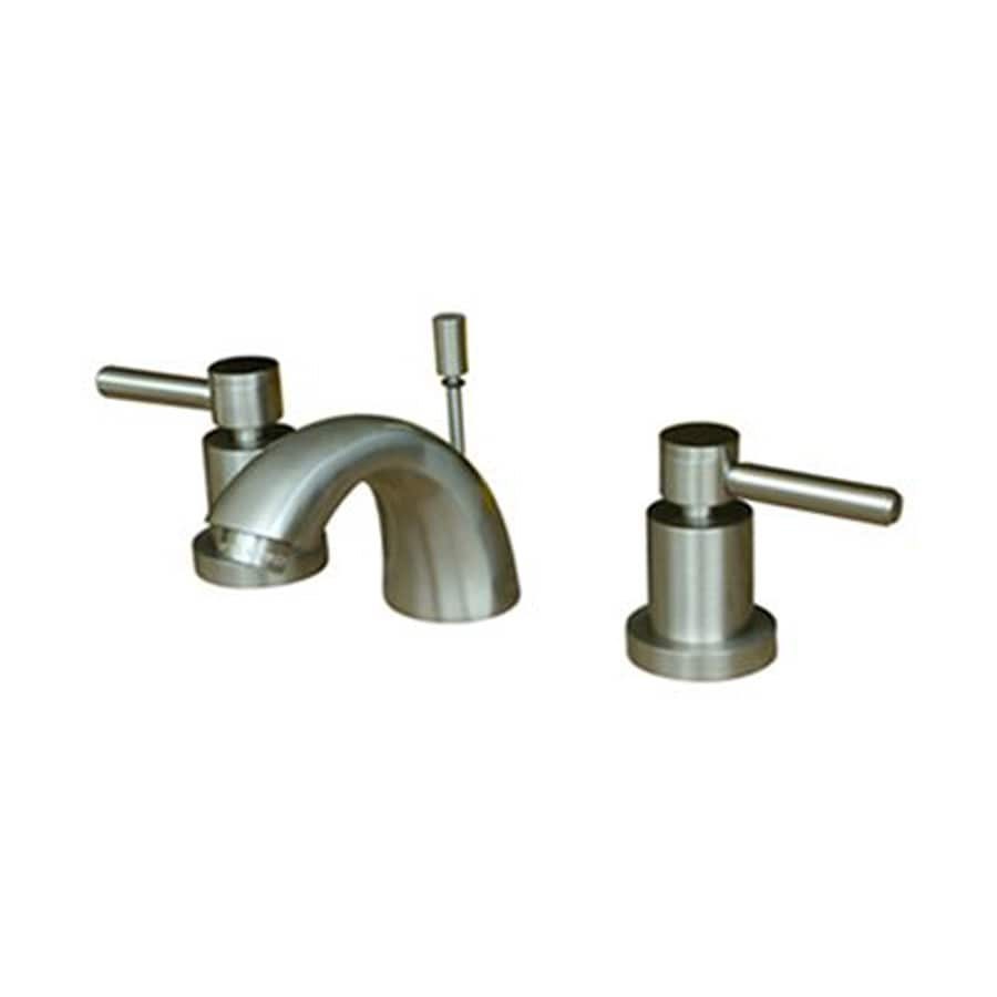 Elements of Design Concord Satin Nickel 2-Handle 4-in Mini Widespread Bathroom Faucet (Drain Included)