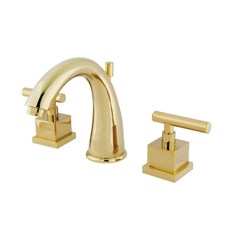 Shop Elements Of Design Claremont Polished Brass 2 Handle Widespread Bathroom Sink Faucet At