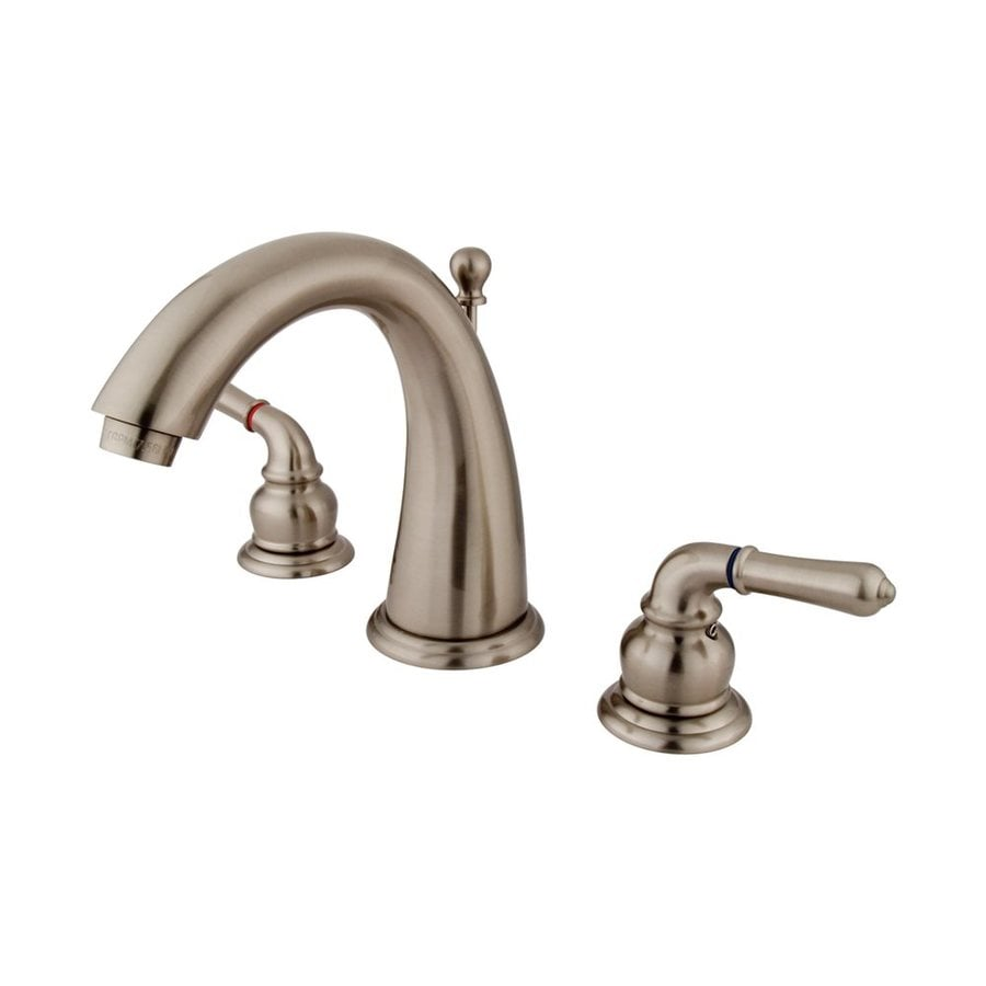 Elements of Design Satin Nickel 2-Handle Widespread Bathroom Faucet (Drain Included)