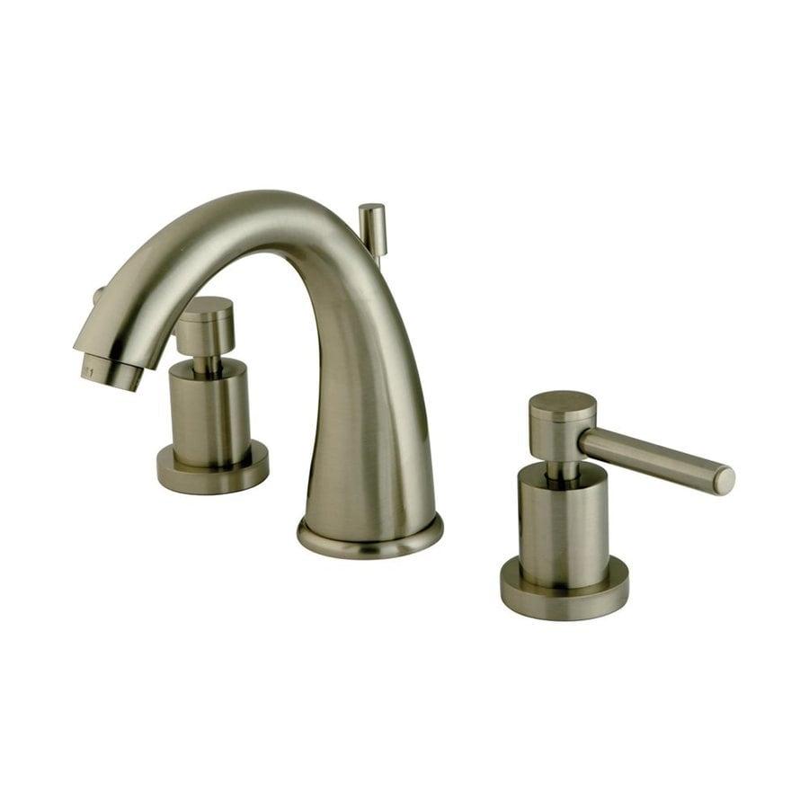 Shop elements of design concord satin nickel 2 handle widespread bathroom sink faucet at for Satin nickel widespread bathroom faucet