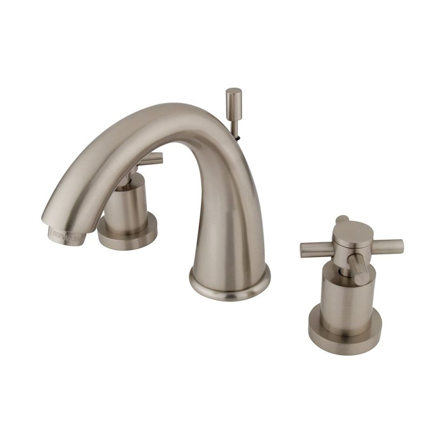 Elements of Design Concord Satin Nickel 2-Handle Widespread Bathroom Faucet (Drain Included)