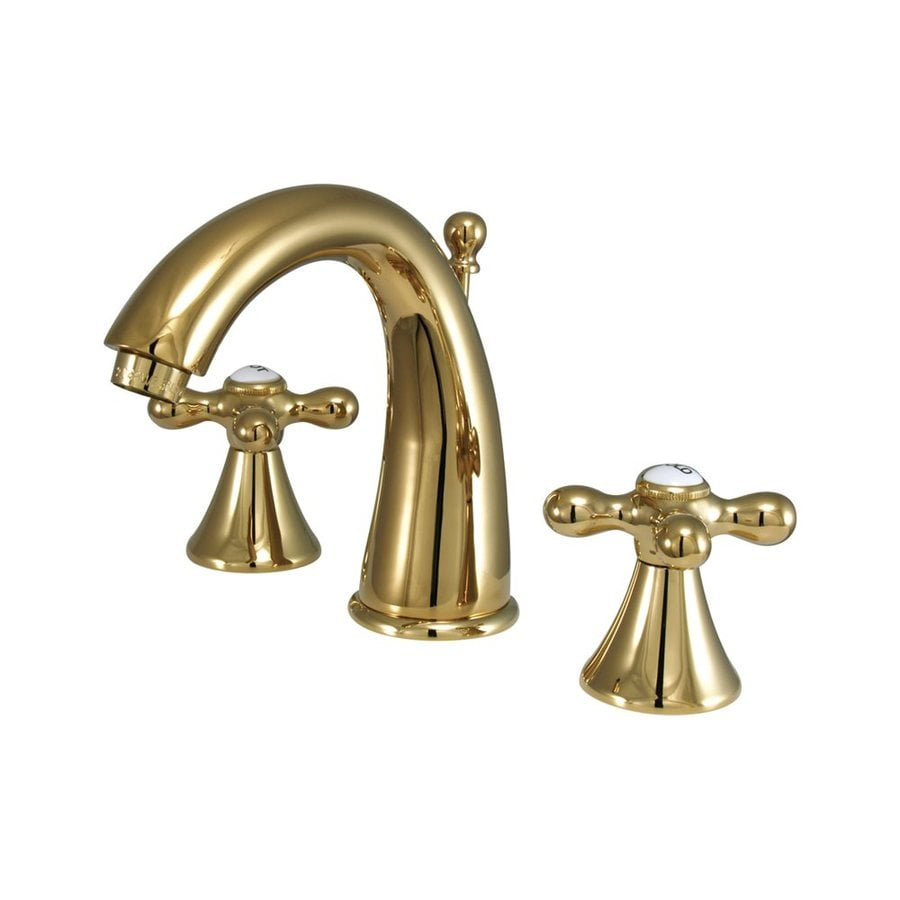 Elements of Design Polished Brass 2-handle Widespread Bathroom Sink Faucet