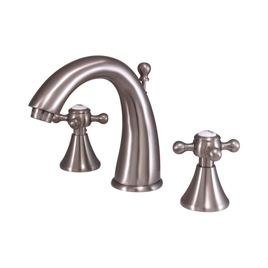 Elements of Design English Country Satin Nickel 2-Handle Widespread Bathroom Faucet (Drain Included)