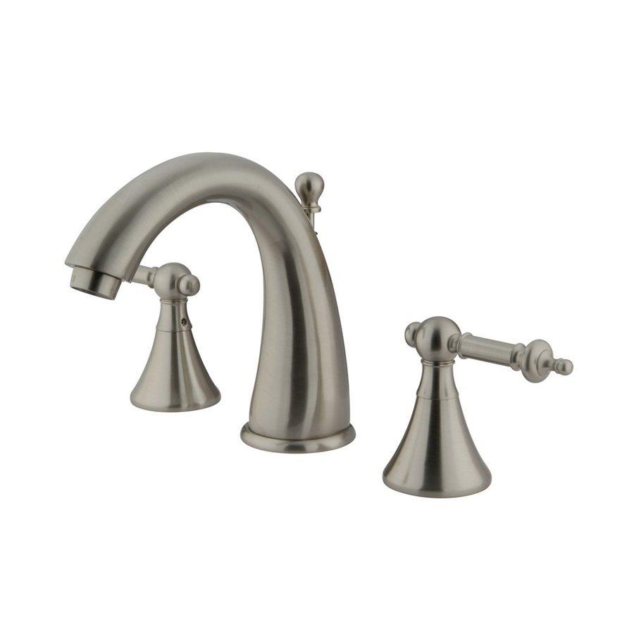 Elements of Design Satin Nickel 2-Handle Widespread Bathroom Faucet (Drain Included)