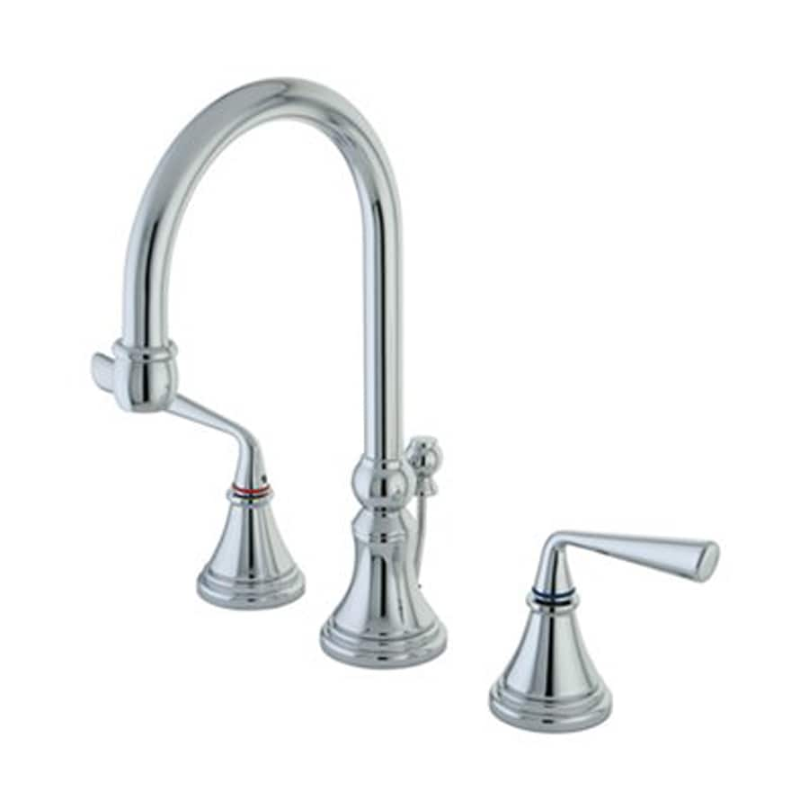 Elements of Design Silver Sage Polished Chrome 2-Handle Widespread Bathroom Faucet (Drain Included)
