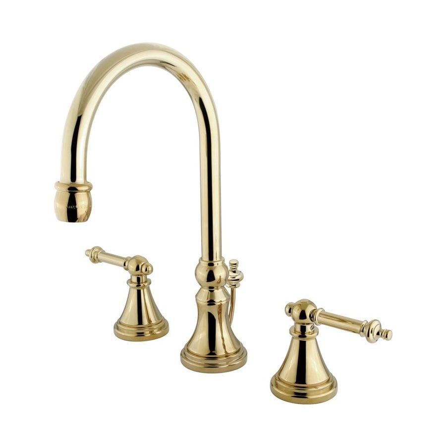Elements of Design Polished Brass 2-handle Widespread Bathroom Sink Faucet