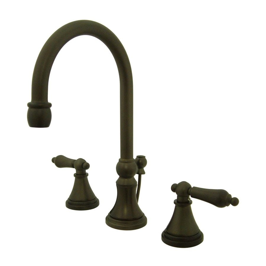 Elements of Design Oil-Rubbed Bronze 2-Handle Widespread Bathroom Faucet (Drain Included)