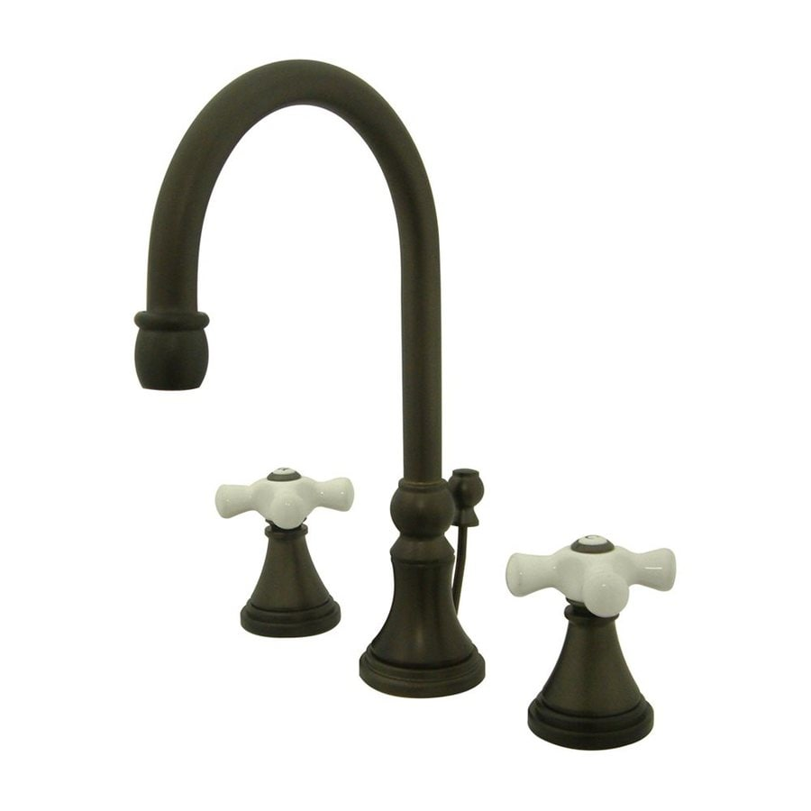 Elements of Design Oil-Rubbed Bronze 2-handle Widespread Bathroom Sink Faucet