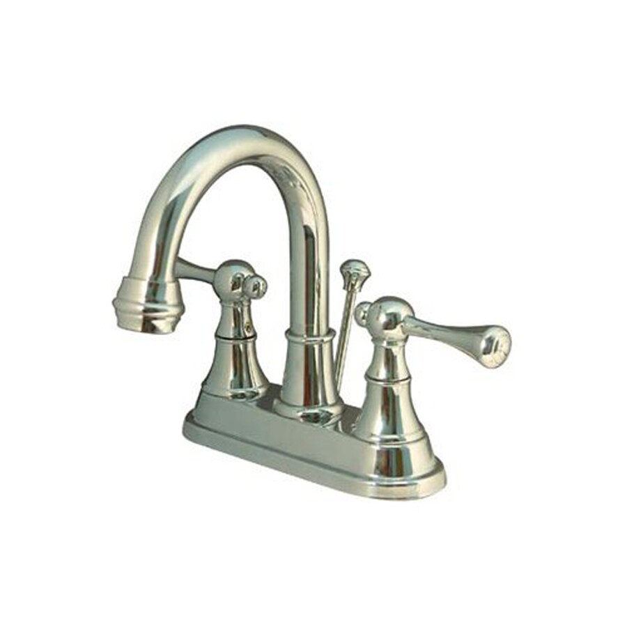 Elements of Design English Country Polished Chrome 2-Handle 4-in Centerset Bathroom Faucet (Drain Included)