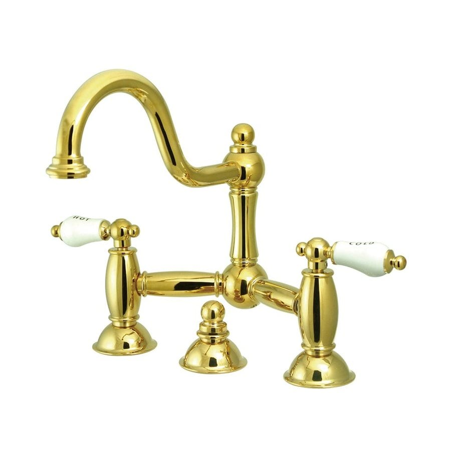 Elements of Design Chicago Polished Brass 2-Handle Widespread Bathroom Faucet