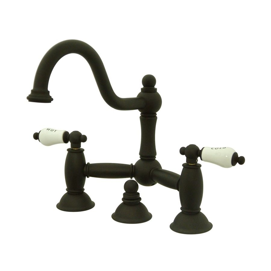 Elements of Design Chicago Oil-Rubbed Bronze 2-handle Widespread Bathroom Sink Faucet