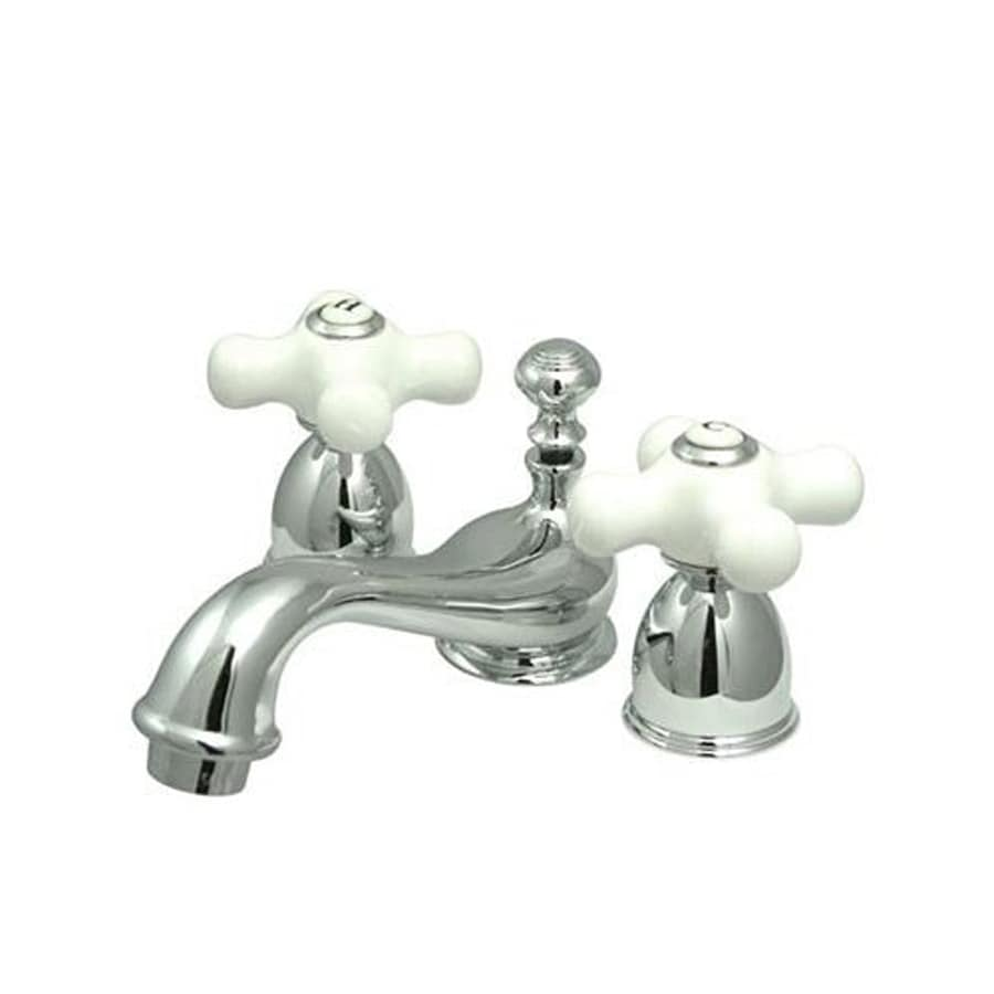Shop Elements Of Design Chicago Chrome 2 Handle 4 In Mini Widespread Bathroom Faucet At