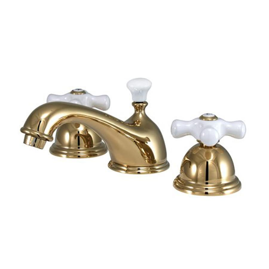 Elements of Design Chicago Polished Brass 2-handle Widespread Bathroom Sink Faucet