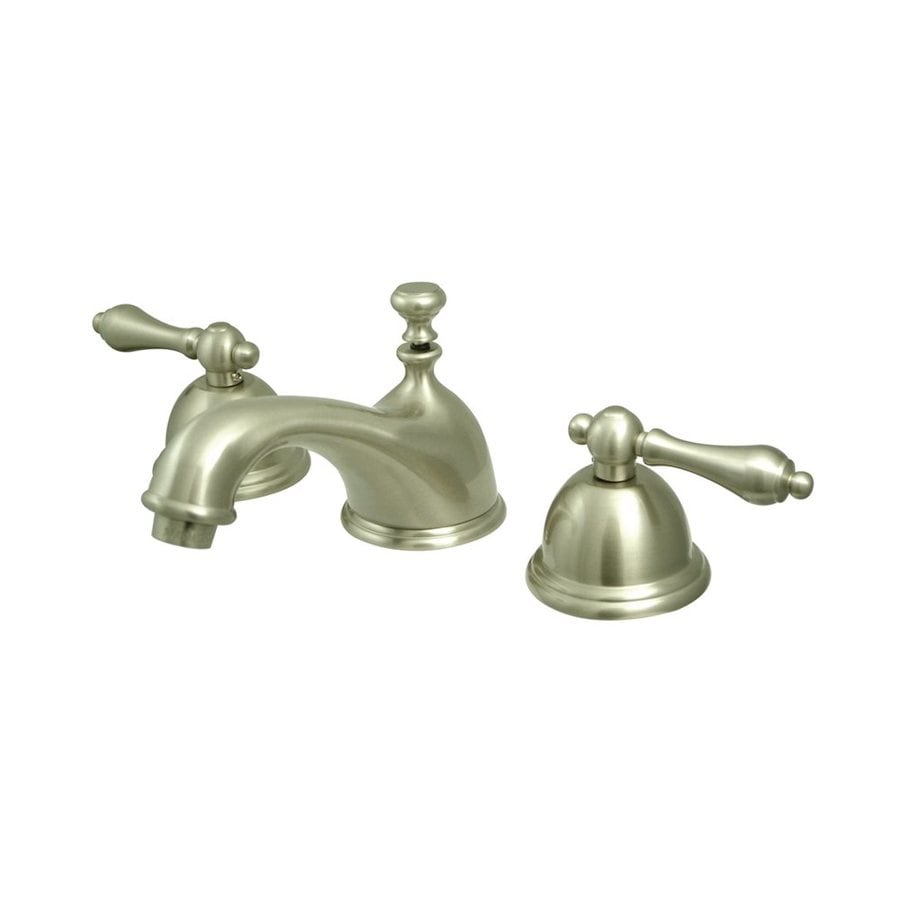 Elements of Design Chicago Satin Nickel 2-Handle Widespread Bathroom Faucet