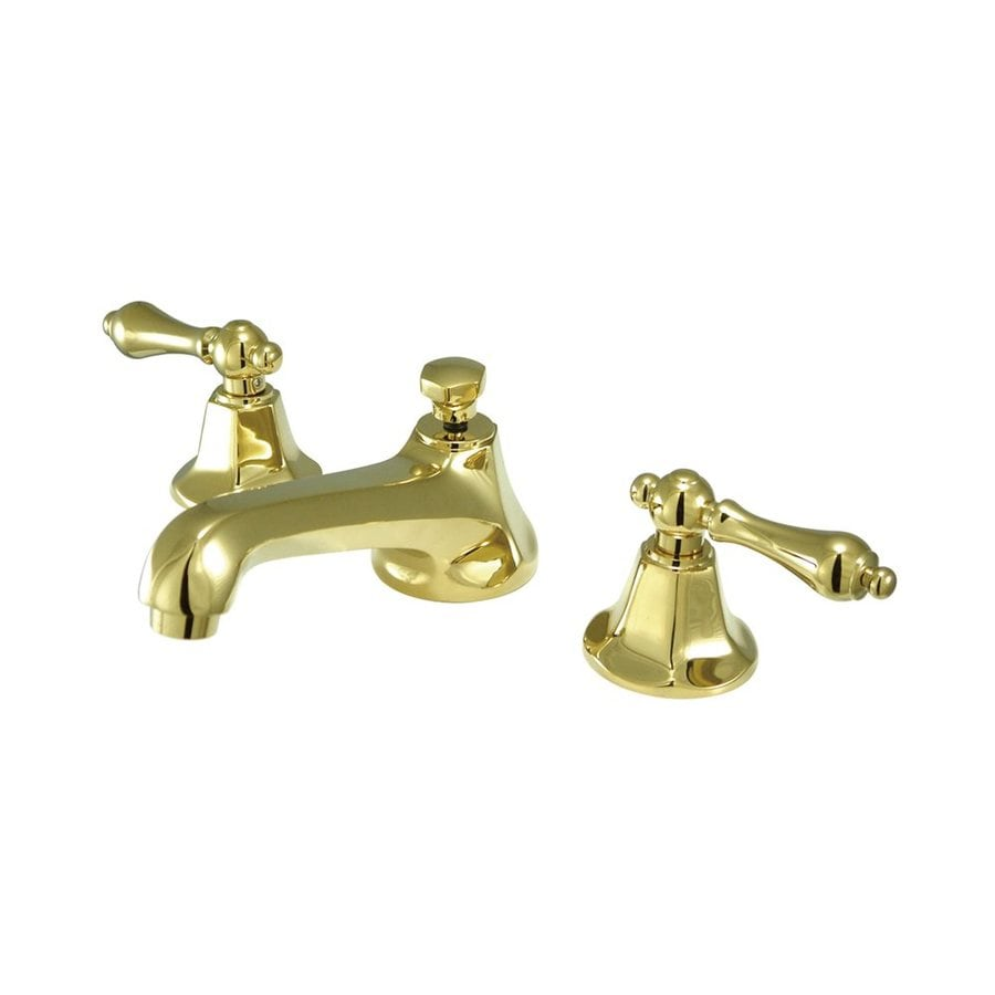 Elements of Design New York Polished Brass 2-handle Widespread Bathroom Sink Faucet