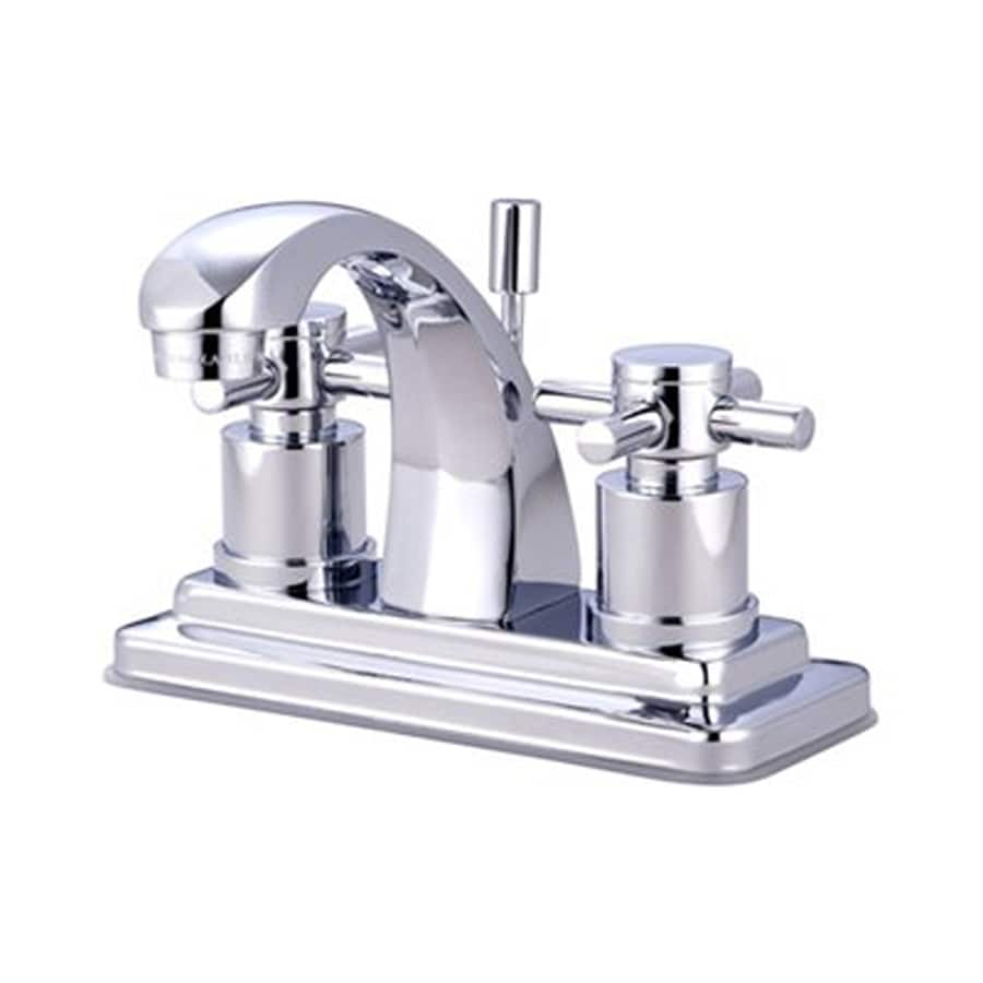 Elements of Design Concord Chrome 2-Handle 4-in Centerset Bathroom Faucet (Drain Included)