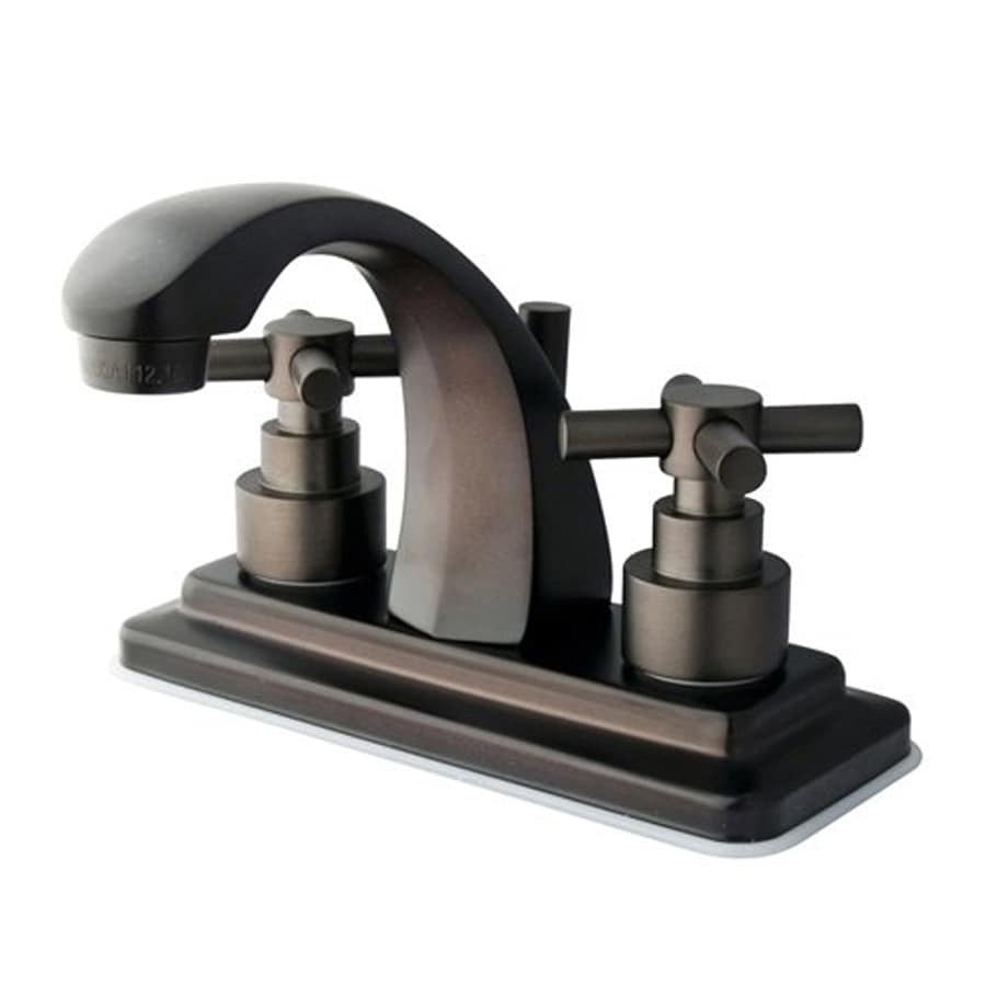 Elements of Design Tampa Oil-Rubbed Bronze 2-Handle 4-in Centerset Bathroom Faucet (Drain Included)