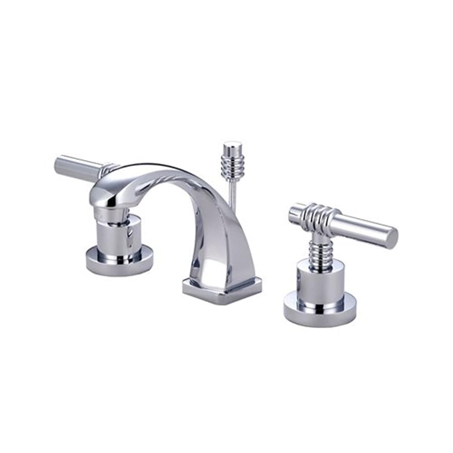 Elements of Design Milano Chrome 2-Handle 4-in Mini Widespread Bathroom Faucet (Drain Included)
