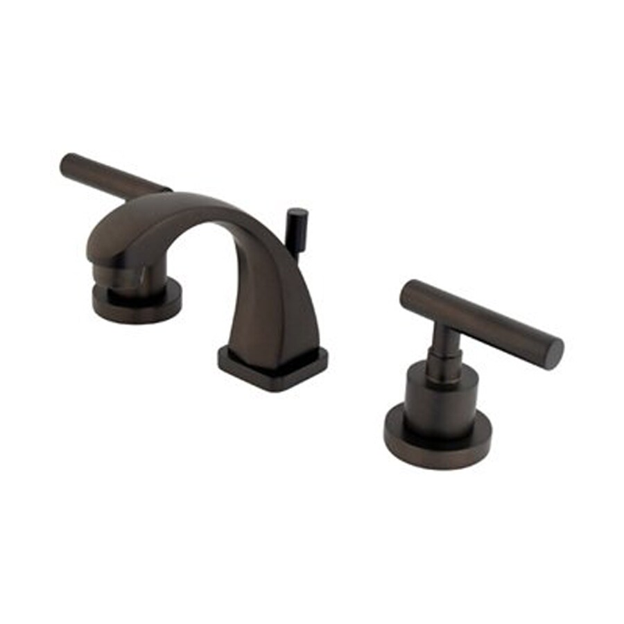 Elements of Design Manhattan Oil-Rubbed Bronze 2-Handle 4-in Mini Widespread Bathroom Faucet (Drain Included)