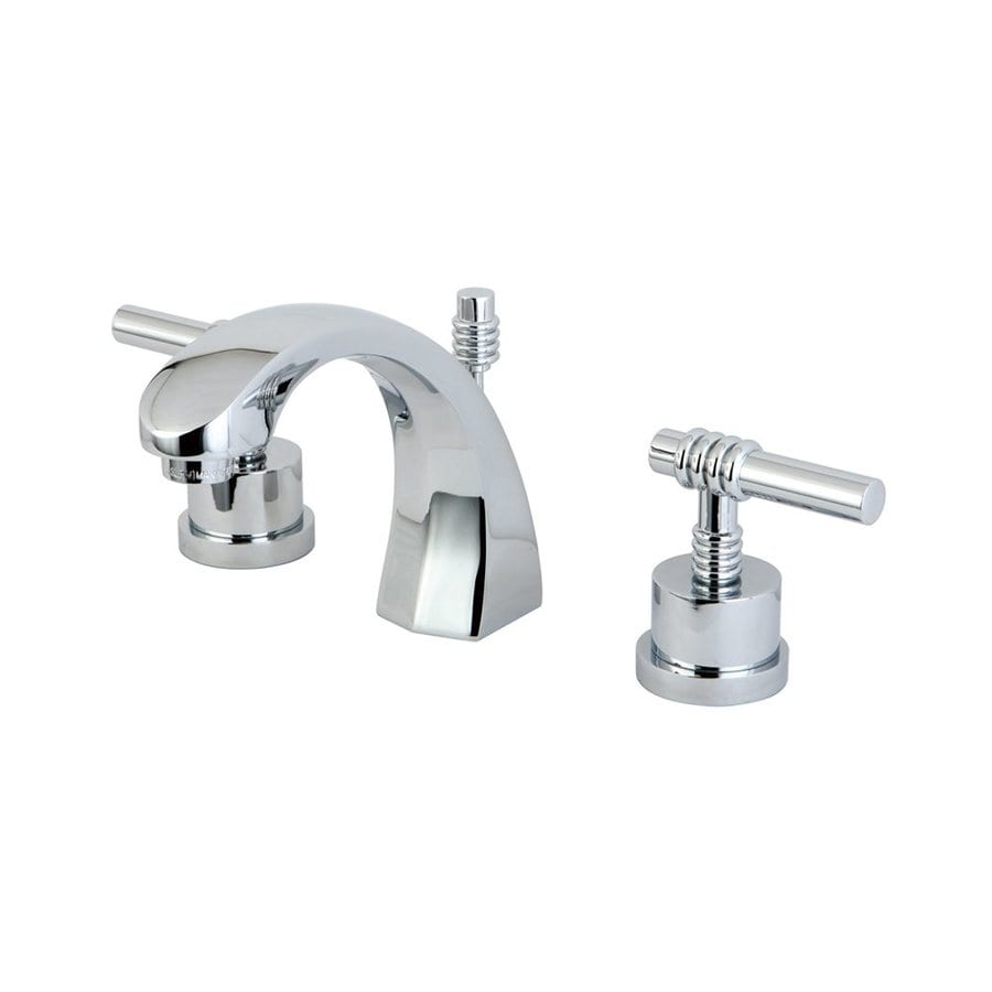 Elements of Design Milano Chrome 2-Handle Widespread Bathroom Faucet (Drain Included)