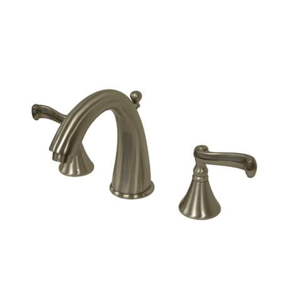 Elements of Design Atlanta Satin Nickel 2-Handle Widespread Bathroom Faucet (Drain Included)