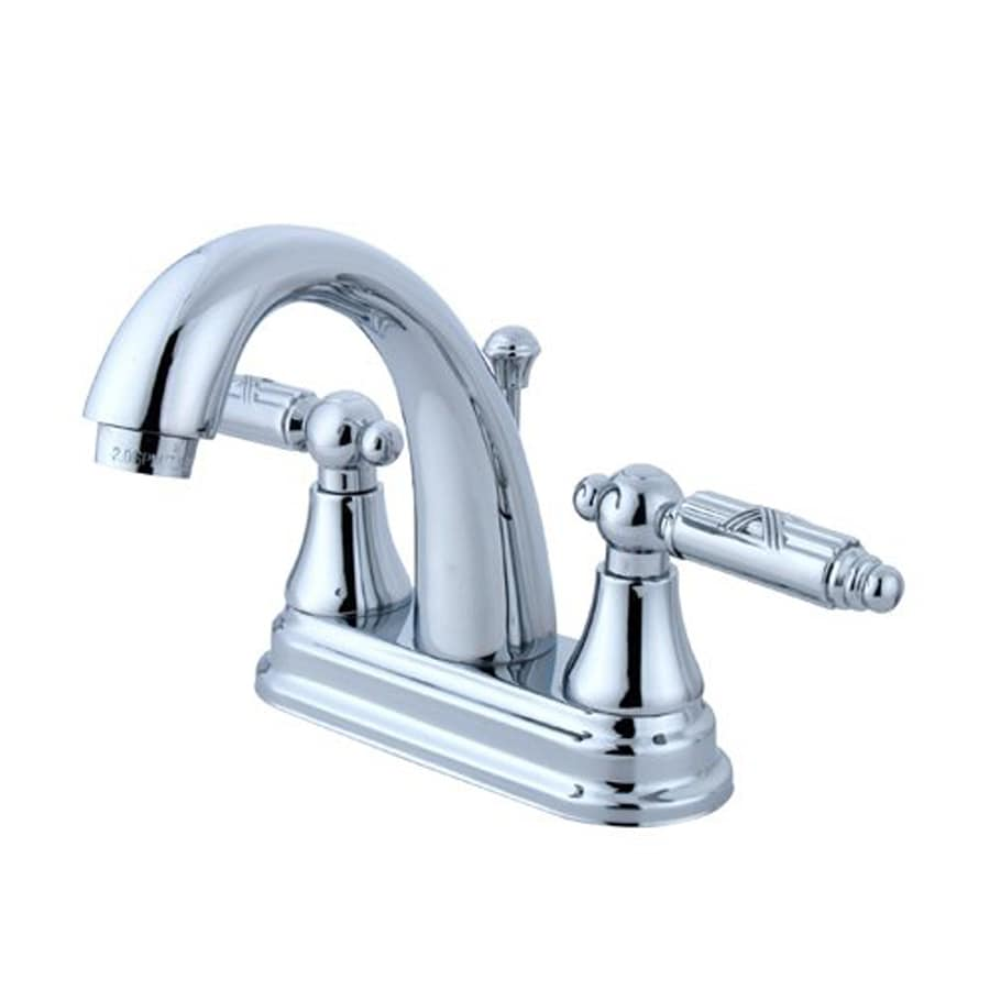 Elements of Design Elizabeth Chrome 2-Handle 4-in Centerset Bathroom Faucet (Drain Included)