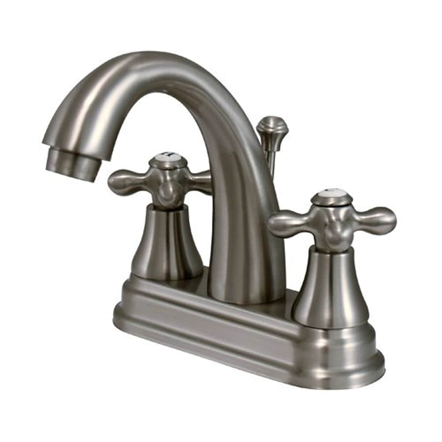 Elements of Design Elizabeth Satin Nickel 2-Handle 4-in Centerset Bathroom Faucet (Drain Included)