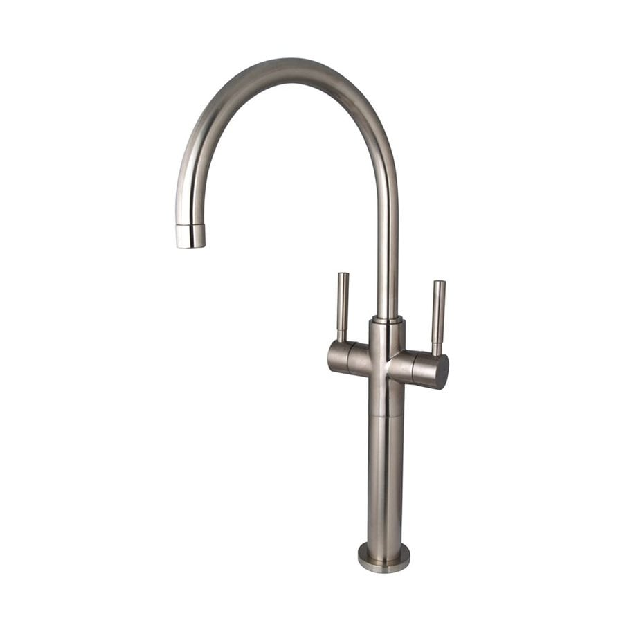 Shop Elements Of Design Concord Satin Nickel 2 Handle Single Hole Bathroom Sink Faucet At
