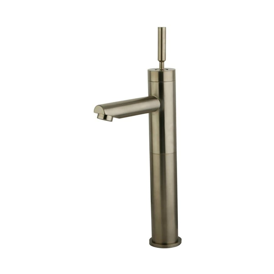 Shop Elements Of Design Satin Nickel 1 Handle Vessel Bathroom Sink Faucet At