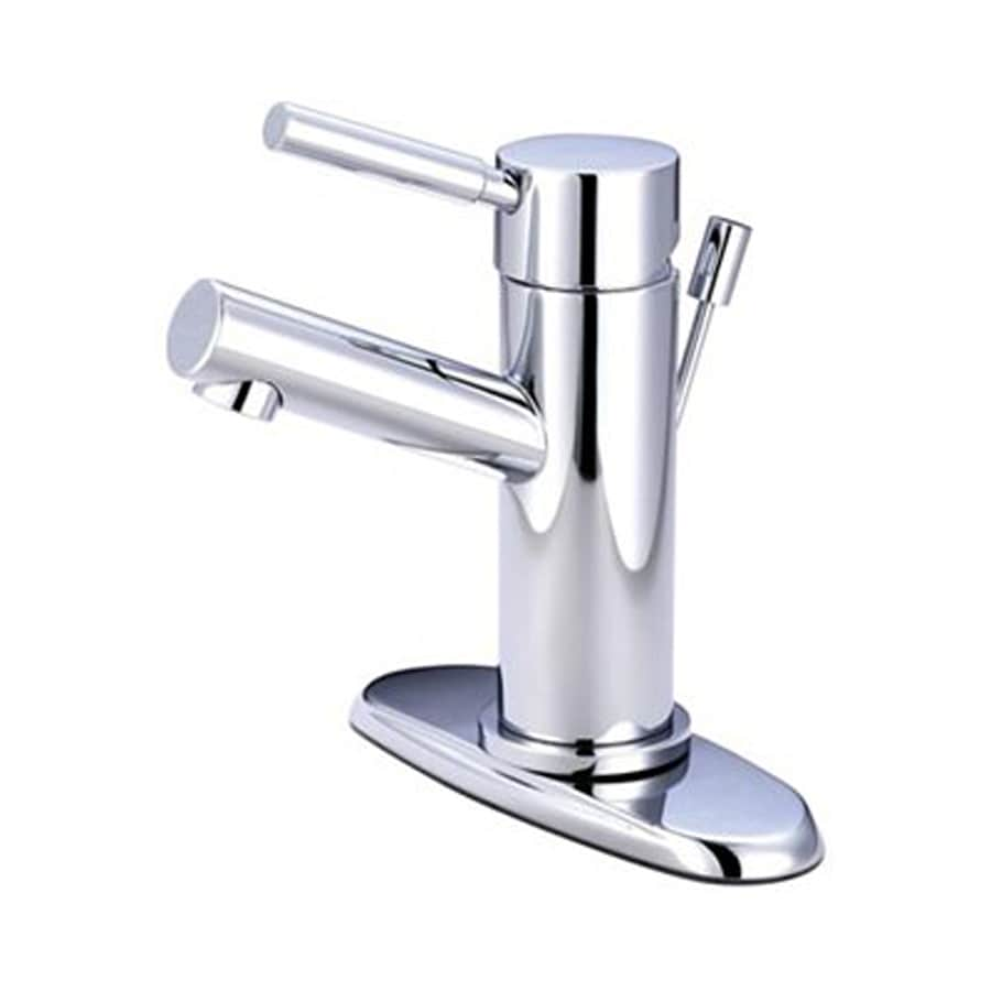 Elements of Design Concord Chrome 1-Handle Single Hole Bathroom Faucet (Drain Included)