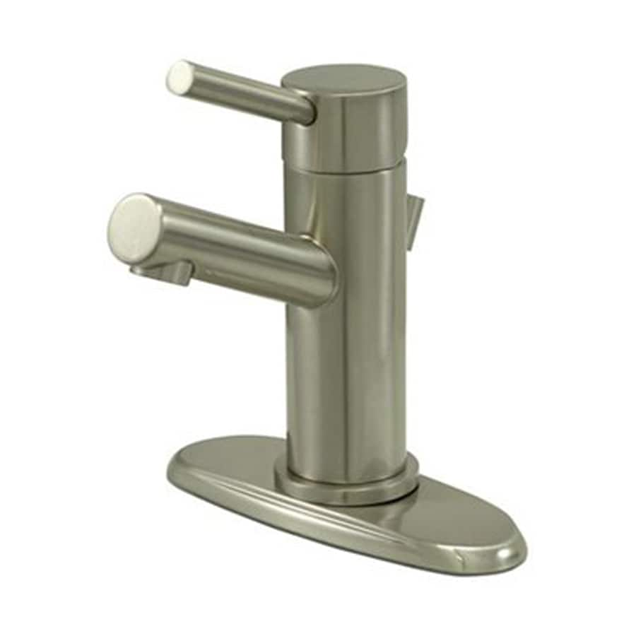 Elements of Design Concord Satin Nickel 1-Handle Single Hole Bathroom Faucet (Drain Included)