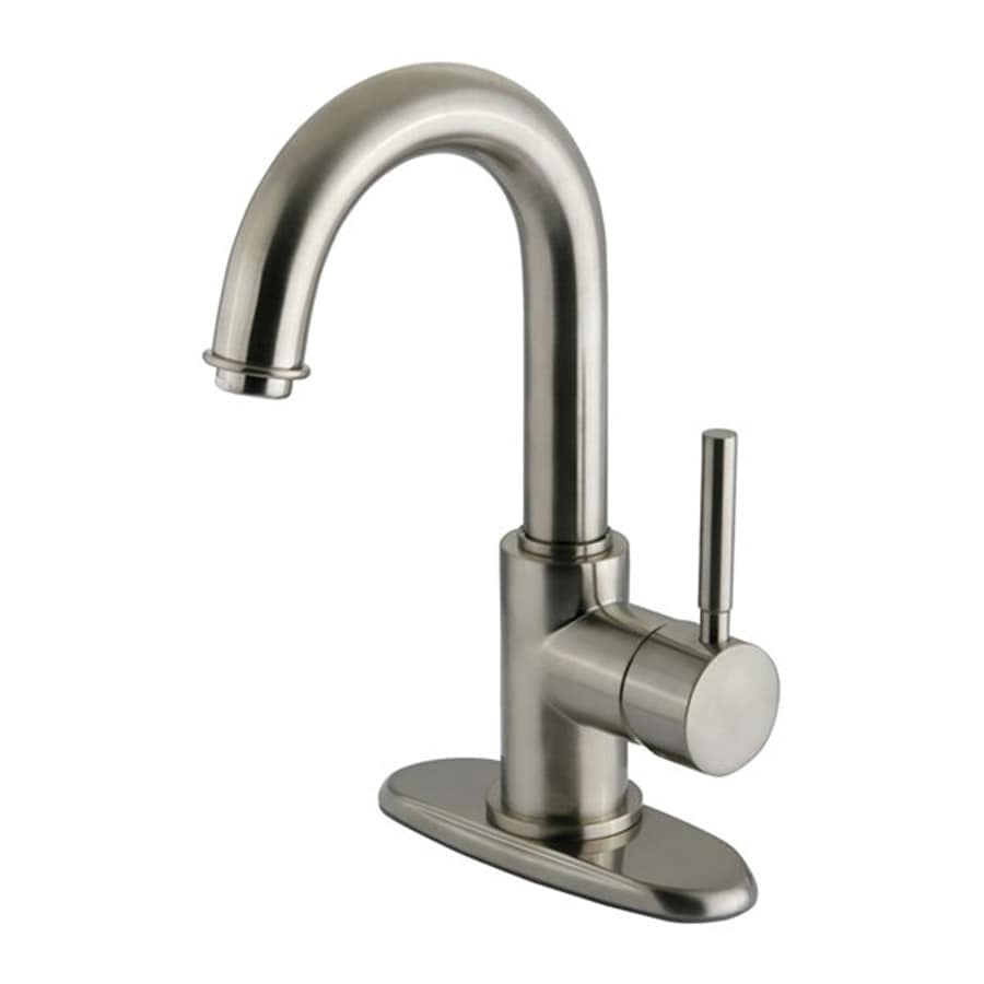 Elements of Design Concord Satin Nickel 1-Handle 4-in Centerset Bathroom Faucet