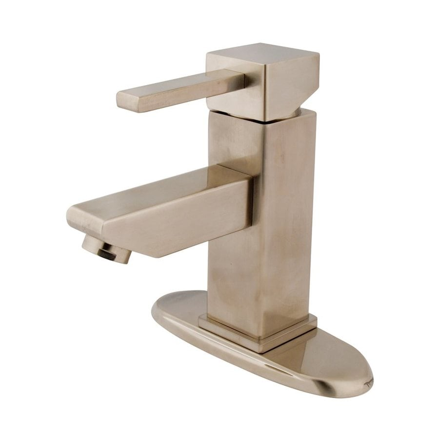 Elements of Design Claremont Satin Nickel 1-Handle 4-in Centerset Bathroom Faucet