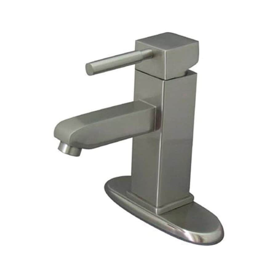Shop elements of design concord satin nickel 1 handle 4 in centerset bathroom faucet at for Elements of design bathroom faucets