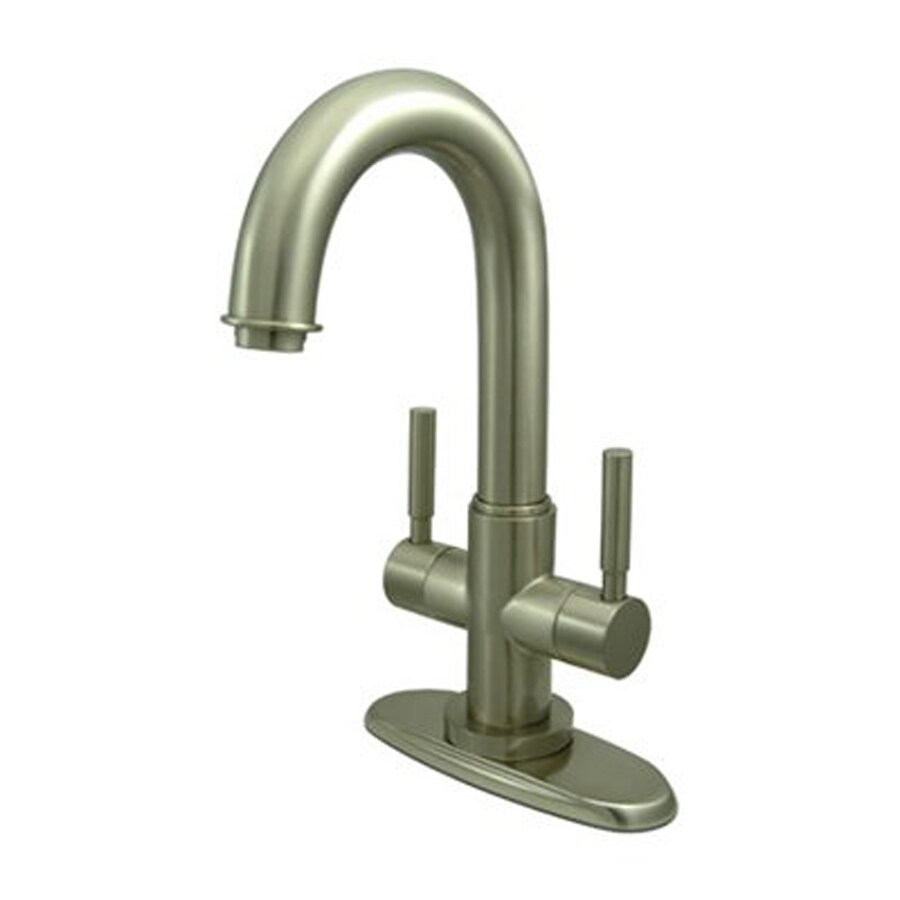Elements of Design Concord Satin Nickel 2-Handle 4-in Centerset Bathroom Faucet