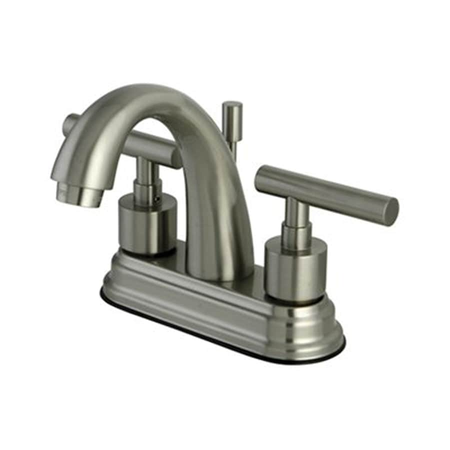 Elements of Design Manhattan Satin Nickel 2-Handle 4-in Centerset Bathroom Faucet (Drain Included)
