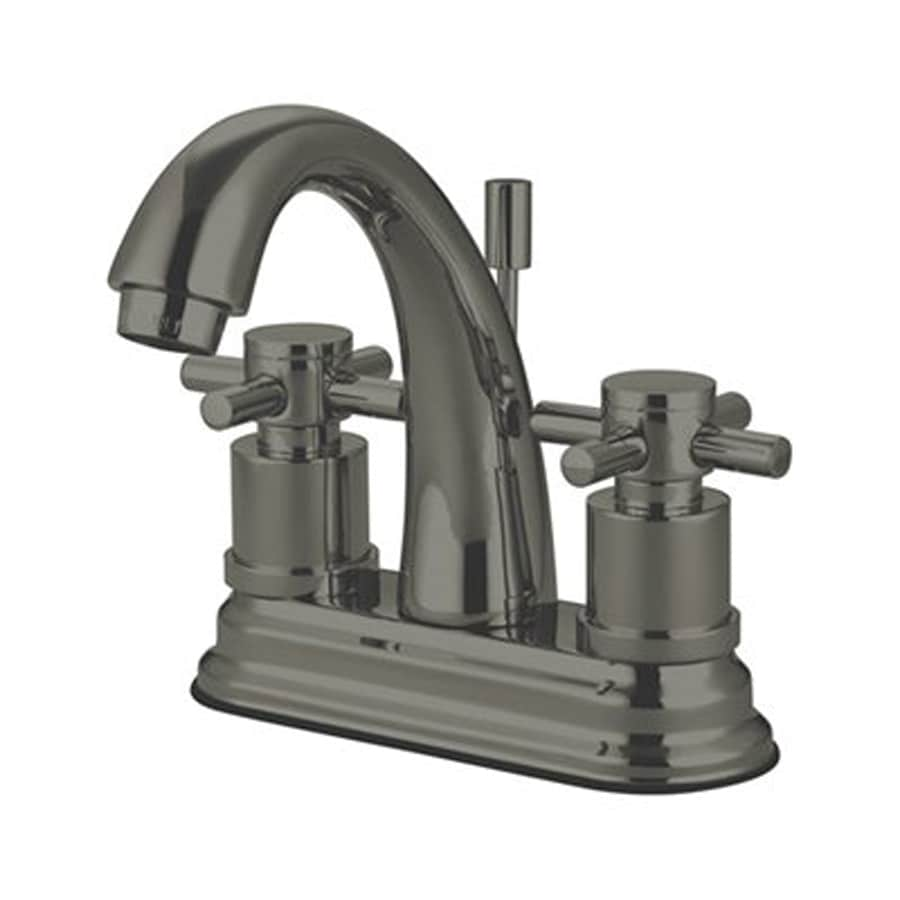 Elements of Design Concord Satin Nickel 2-Handle 4-in Centerset Bathroom Faucet (Drain Included)