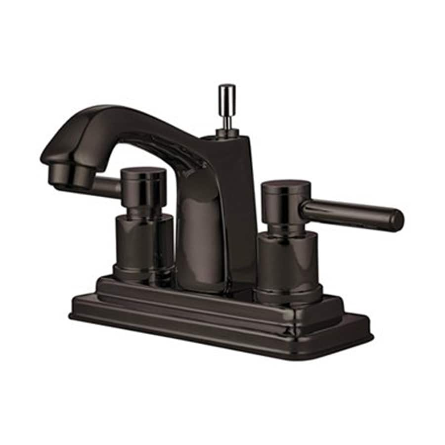 Elements of Design Oil-Rubbed Bronze 2-Handle 4-in Centerset Bathroom Faucet (Drain Included)