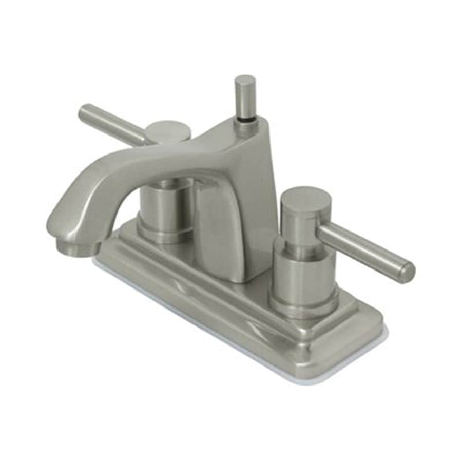 Elements of Design Concord Satin Nickel 2-Handle 4-in Centerset Bathroom Faucet (Drain Included)