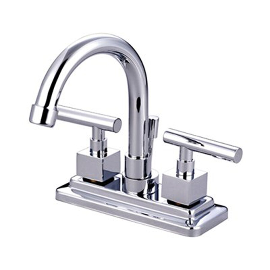 Elements of Design Claremont Chrome 2-Handle 4-in Centerset Bathroom Faucet (Drain Included)