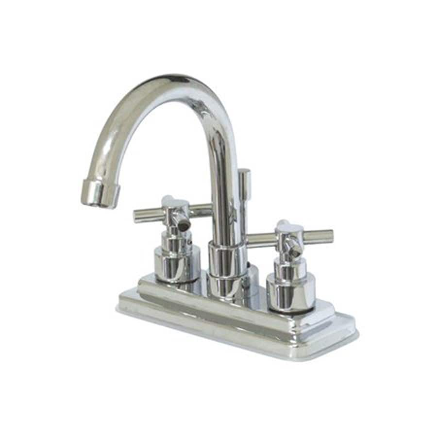 Elements of Design Tampa Chrome 2-Handle 4-in Centerset Bathroom Faucet (Drain Included)