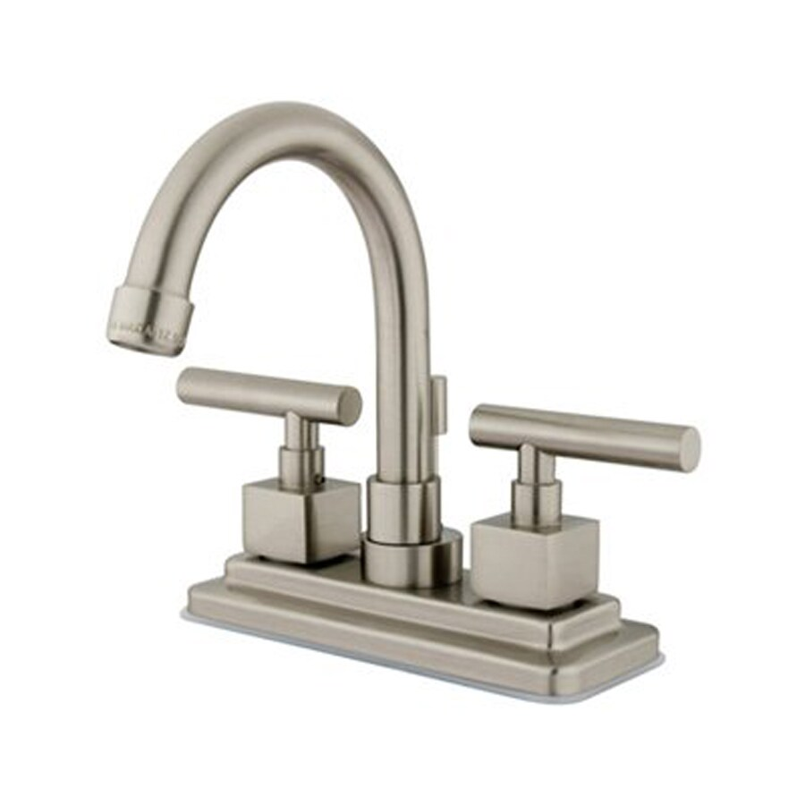 Elements of Design Claremont Satin Nickel 2-Handle 4-in Centerset Bathroom Faucet (Drain Included)