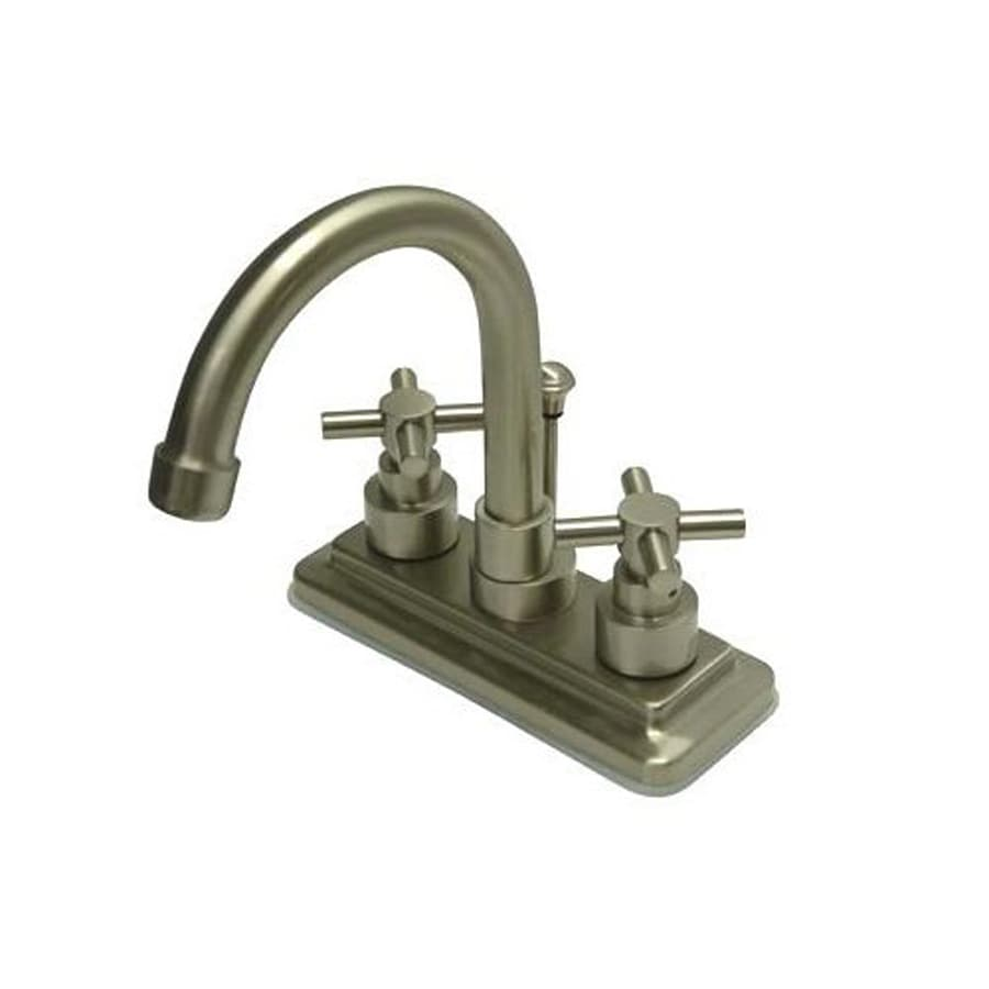Elements of Design Tampa Satin Nickel 2-Handle 4-in Centerset Bathroom Faucet (Drain Included)